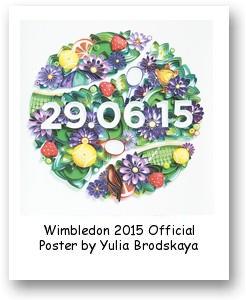 Wimbledon 2015 Official Poster by Yulia Brodskaya