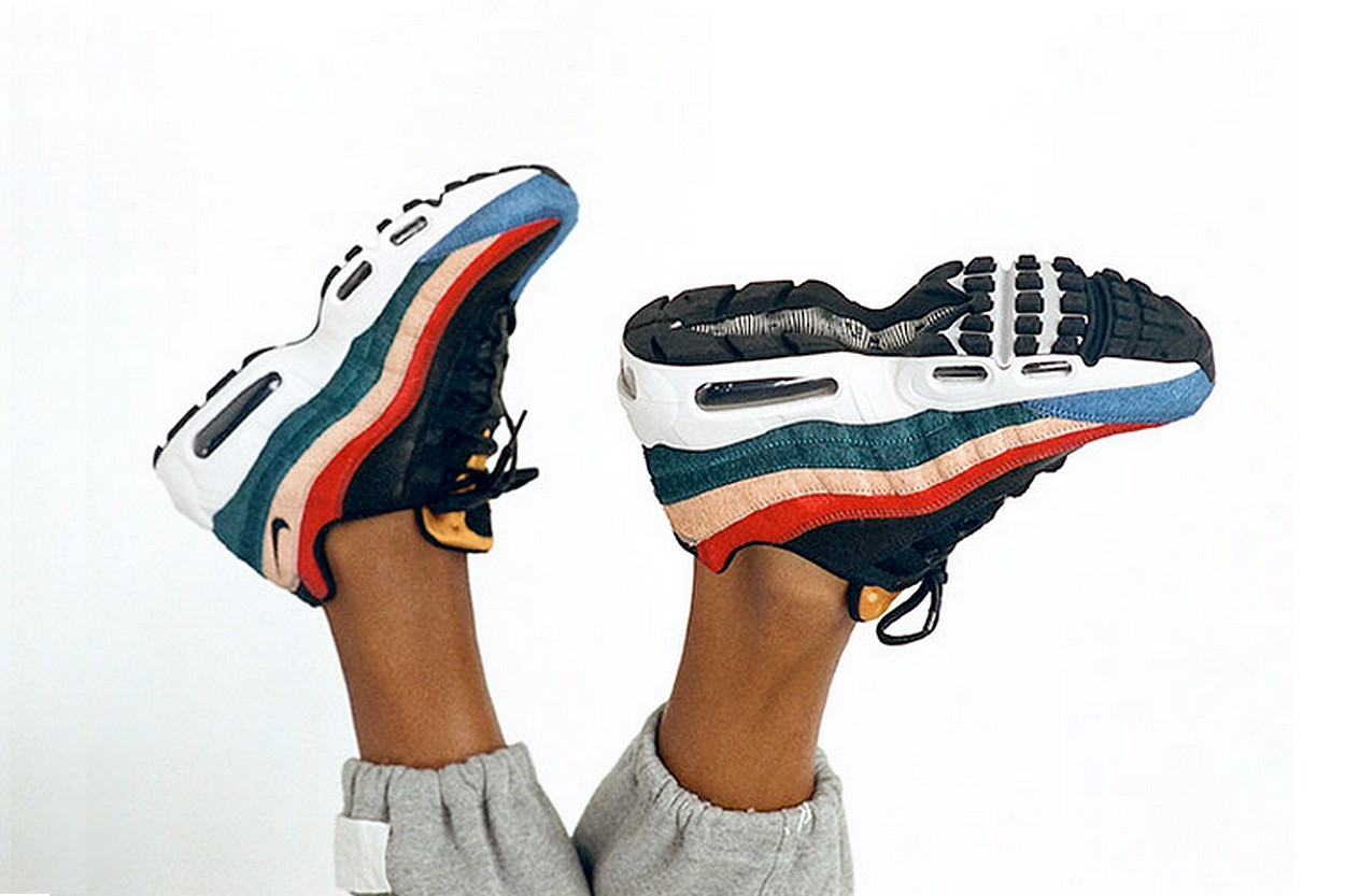nike air max 95 arc en ciel
