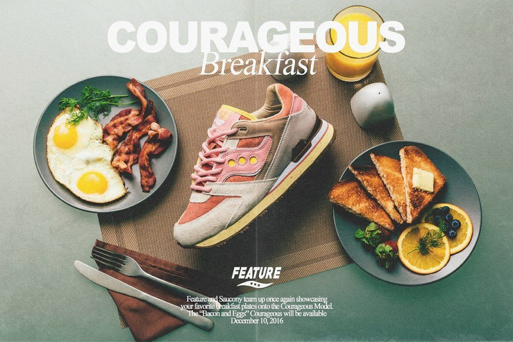"Saucony x Feature Courageous ""Bacon & Eggs"""