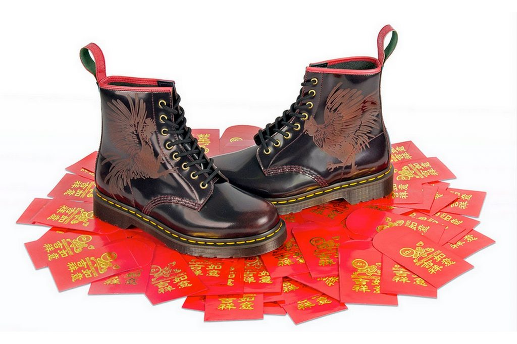 "Dr. Martens ""Year of the Rooster"" 1460 8-Eye Boots"