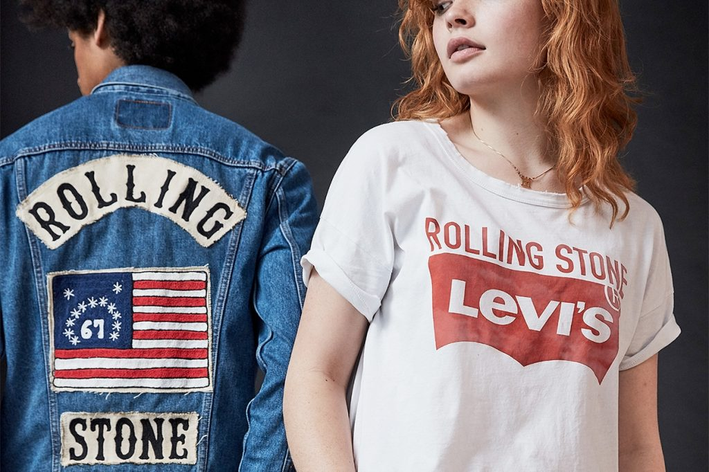 "Collection capsule Levi's x Rolling Stone ""50th Anniversary"""