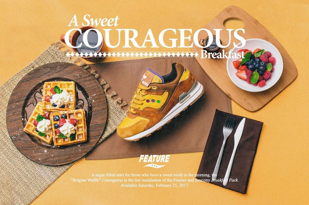 "Saucony x Feature Courageous ""Belgian Waffle"""