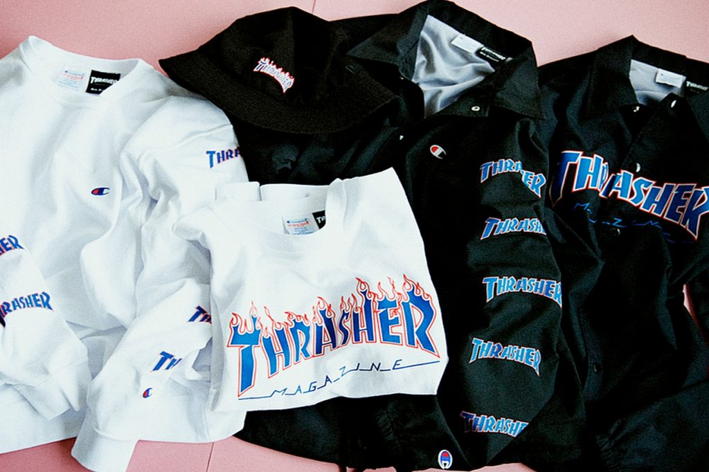 Collection capsule BEAMS x Champion x Thrasher Printemps/Été 2017