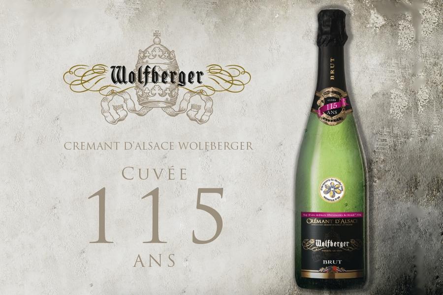 """Wolfberger crémant brut """"Cuvée 115 ans"""""""