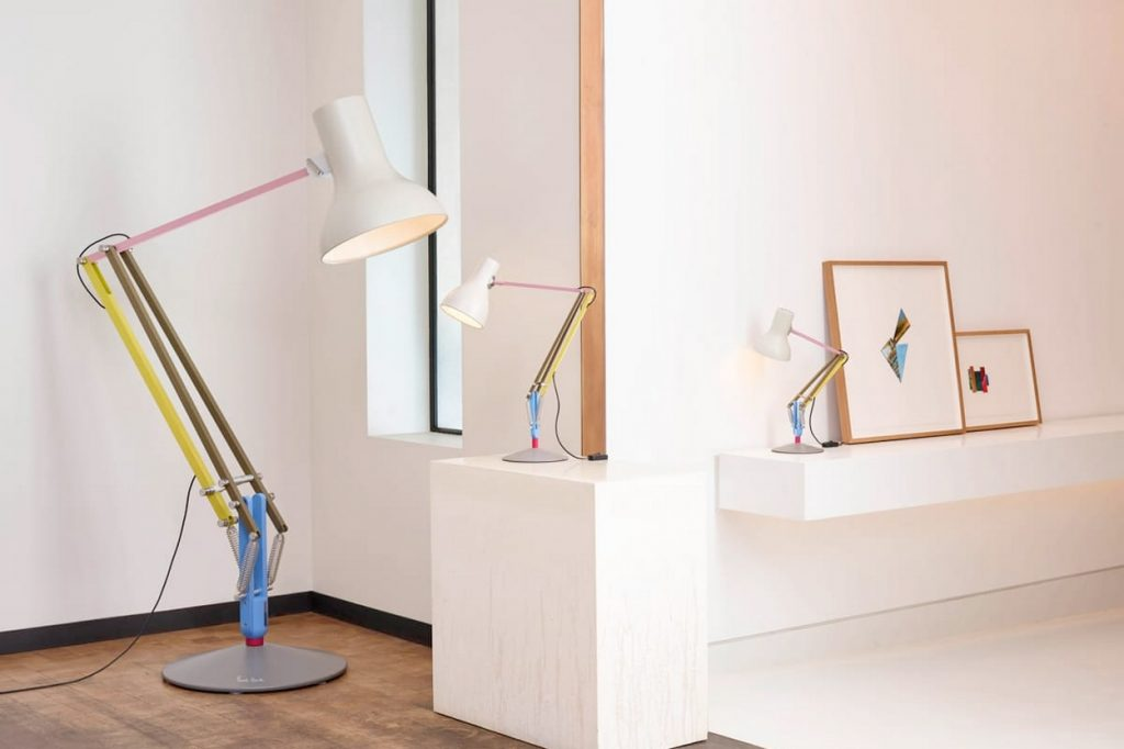 Nouvelle collaboration Anglepoise x Paul Smith