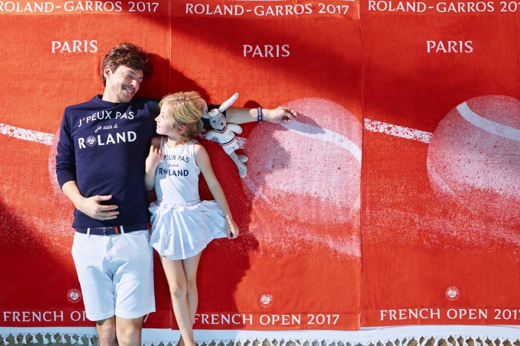 """Collection capsule Griffe Roland-Garros """"J'peux pas je suis à ROLAND"""""""
