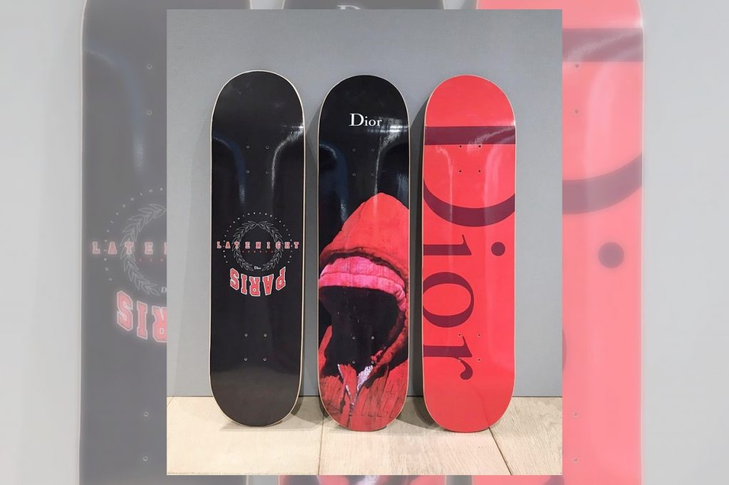 Dior Homme Limited Edition Skateboard Decks