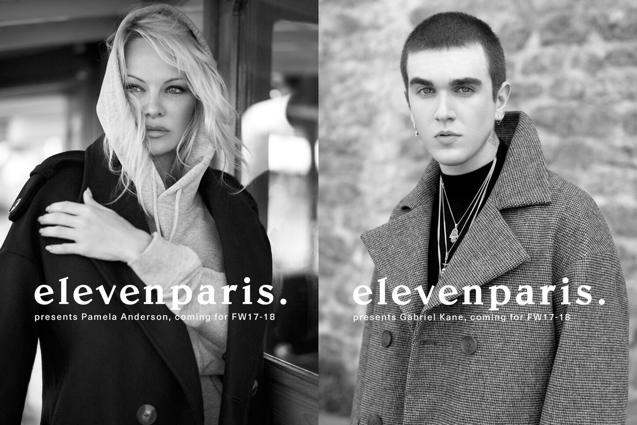 Campagne elevenparis. Automne/Hiver 2017 x Pamela Anderson & Gabriel Kane