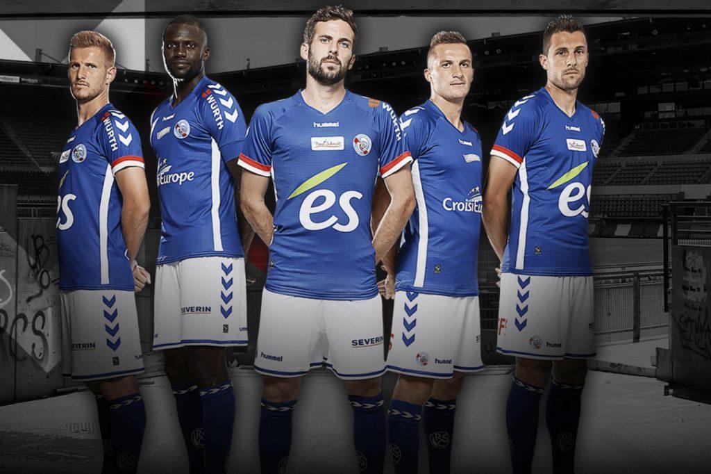 Hummel présente les nouveaux maillots 2017/2018 du Racing Club Strasbourg Alsace