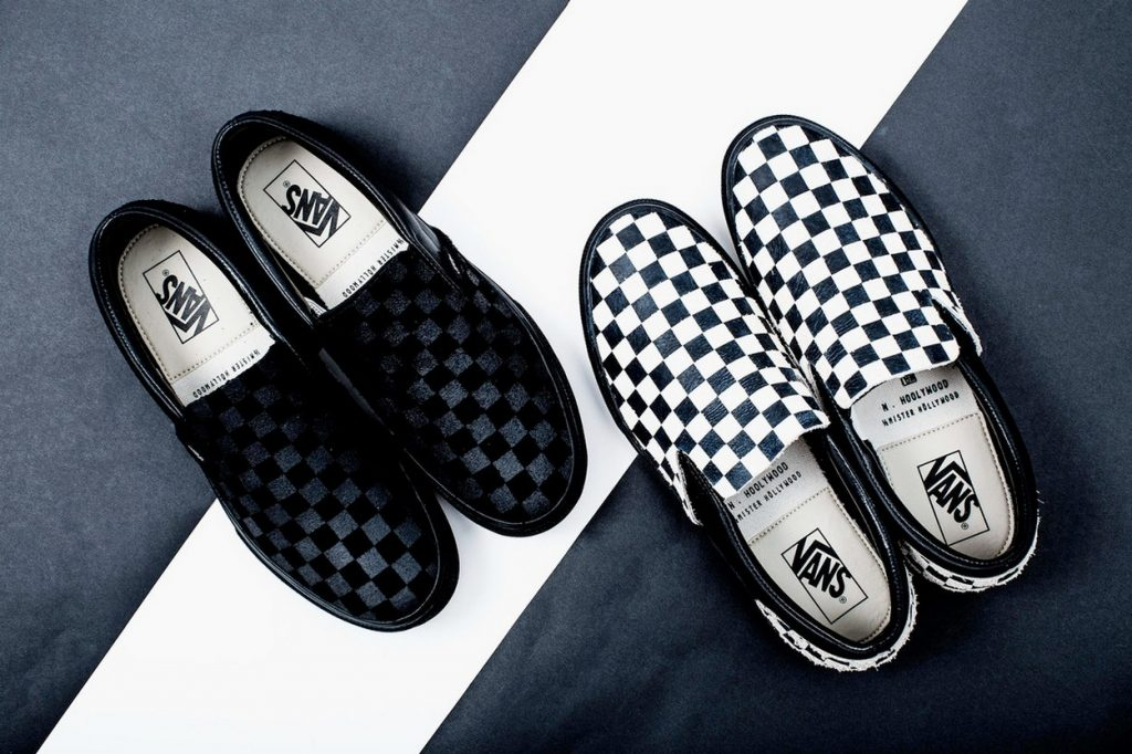 "N.HOOLYWOOD x Vans collaborent sur des Slip-On ""Checkerboard"""