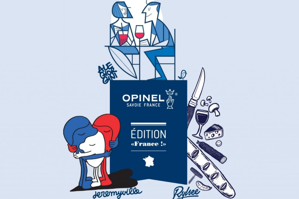 "Ale Giorgini, Jeremyville & Rylsee x Opinel Édition ""France!"""