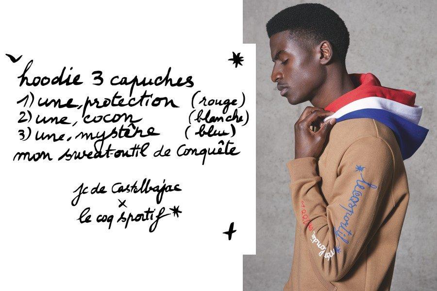 JC de Castelbajac pour Le Coq Sportif : un sweat à trois