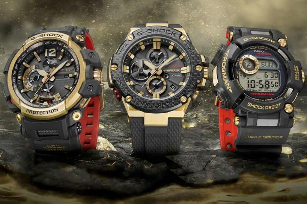 """G-Shock célèbre son 35ème anniversaire avec la collection """"Gold Tornado"""""""