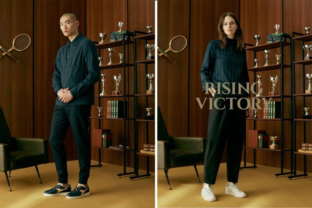 "Campagne Diadora Heritage ""Rising Victory"" Printemps/Été 2018"
