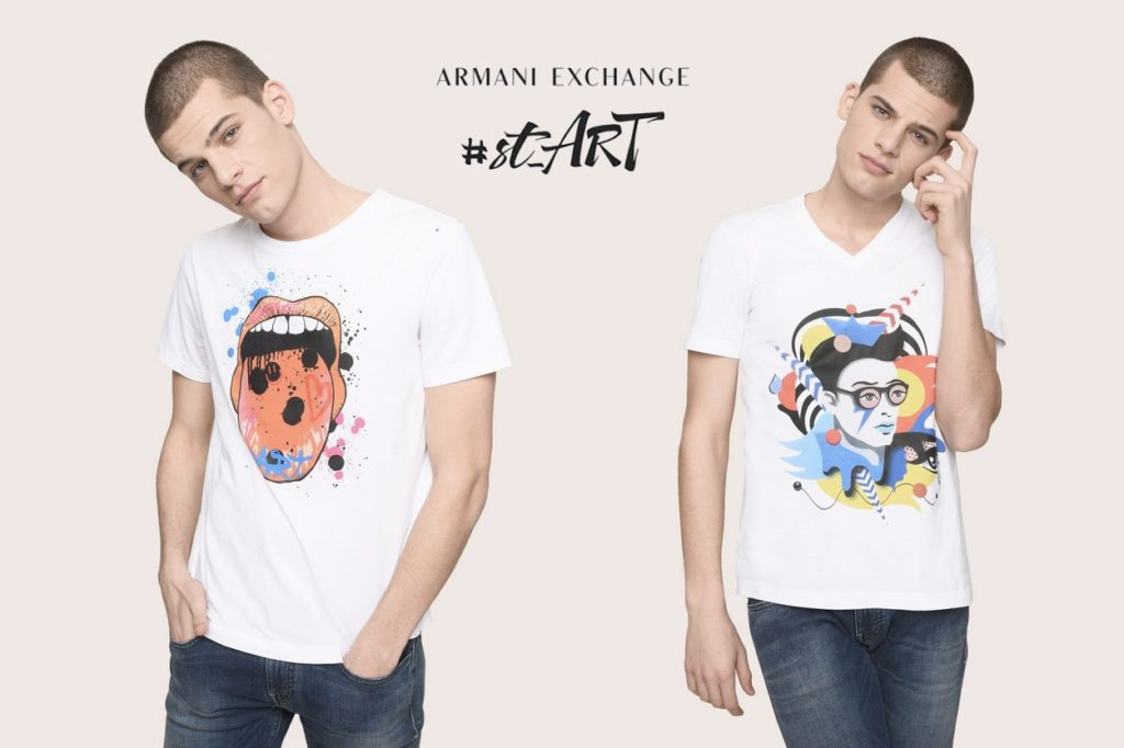 Armani Exchange renouvelle le projet #st_ART pour le Printemps/Été 2018