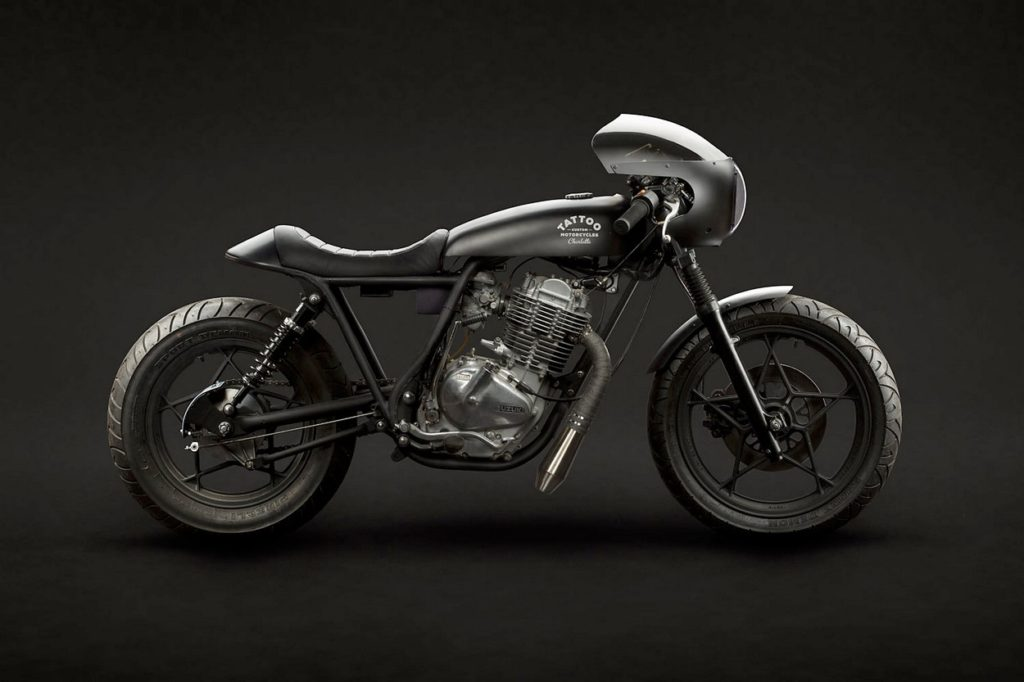 "Suzuki GN400 ""Vampire Slayer"" par Tattoo Moto"
