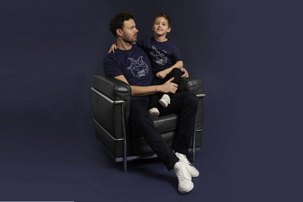 """T-shirt édition limitée Chevignon """"Dad & Kids Togs Family"""""""