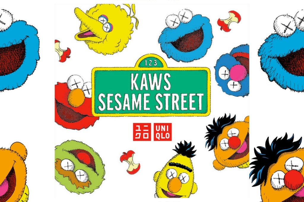 "Collection KAWS x ""Sesame Street"" Uniqlo UT"
