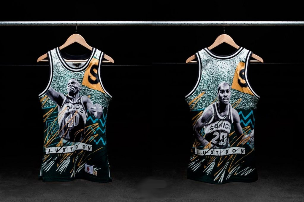 "Collection capsule Mitchell & Ness x Just Don ""NBA Jam"""