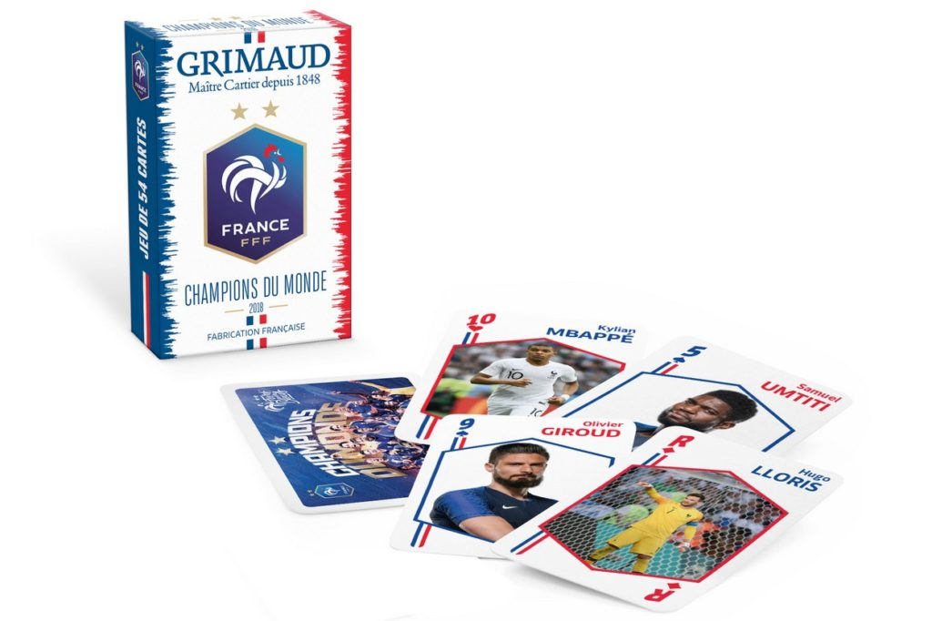 """Jeu de cartes FFF x Grimaud """"Champions du Monde"""""""