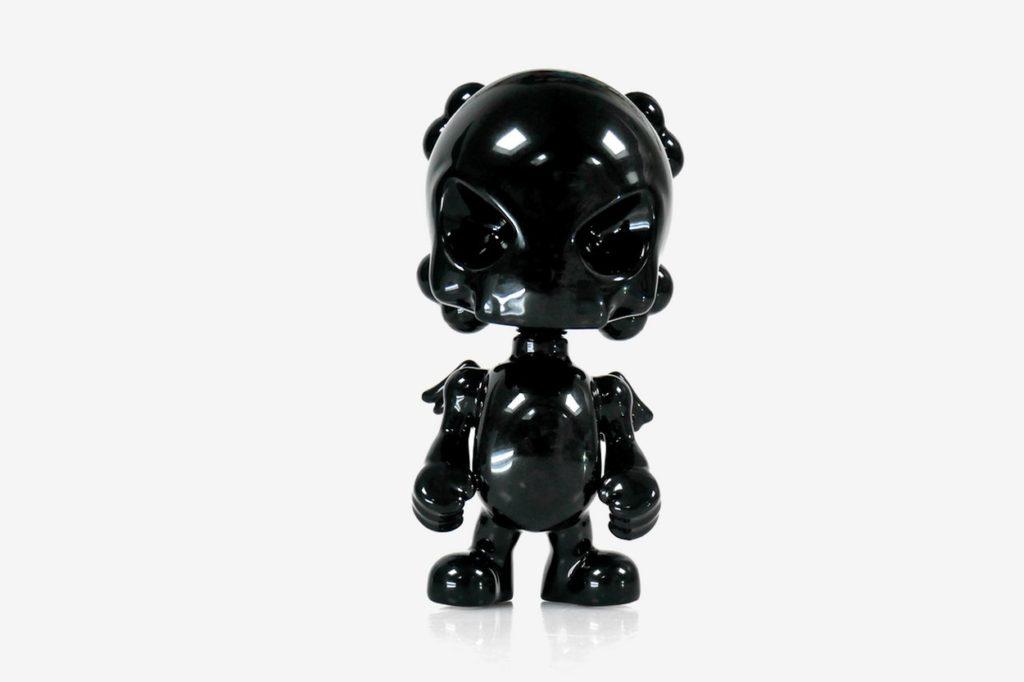 "Porcelaine ""SkullHead Black"" par Huck Gee x K.Olin Tribu"