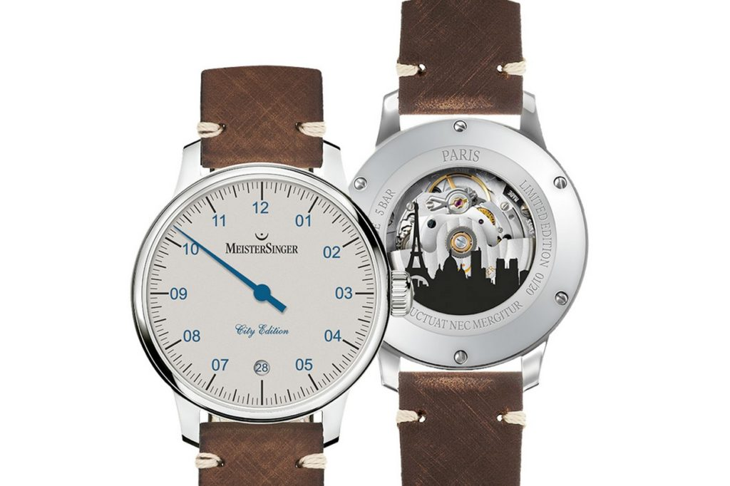 Montre MeisterSinger City Edition 2018 Paris