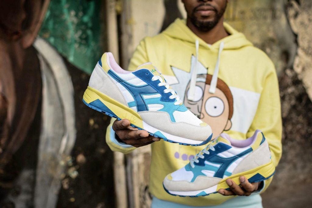Collection de sneakers et de vêtements Rick & Morty x Diadora