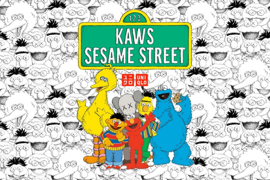 "Seconde collection KAWS x Uniqlo UT ""Sesame Street"""