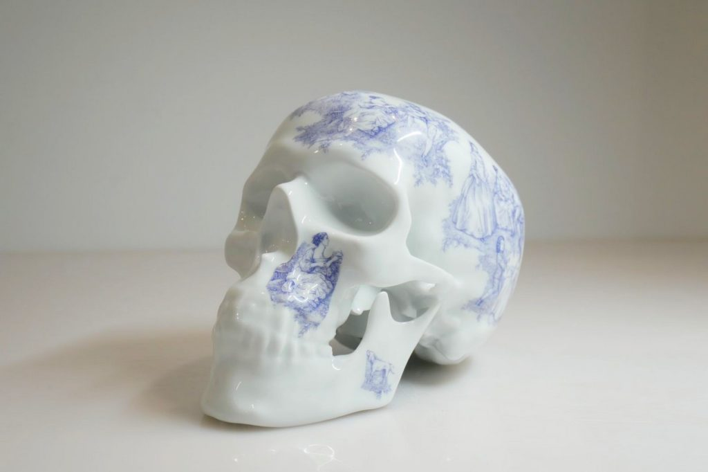 "Sculpture ""Skull TJ Blue"" NooN x K.Olin Tribu"