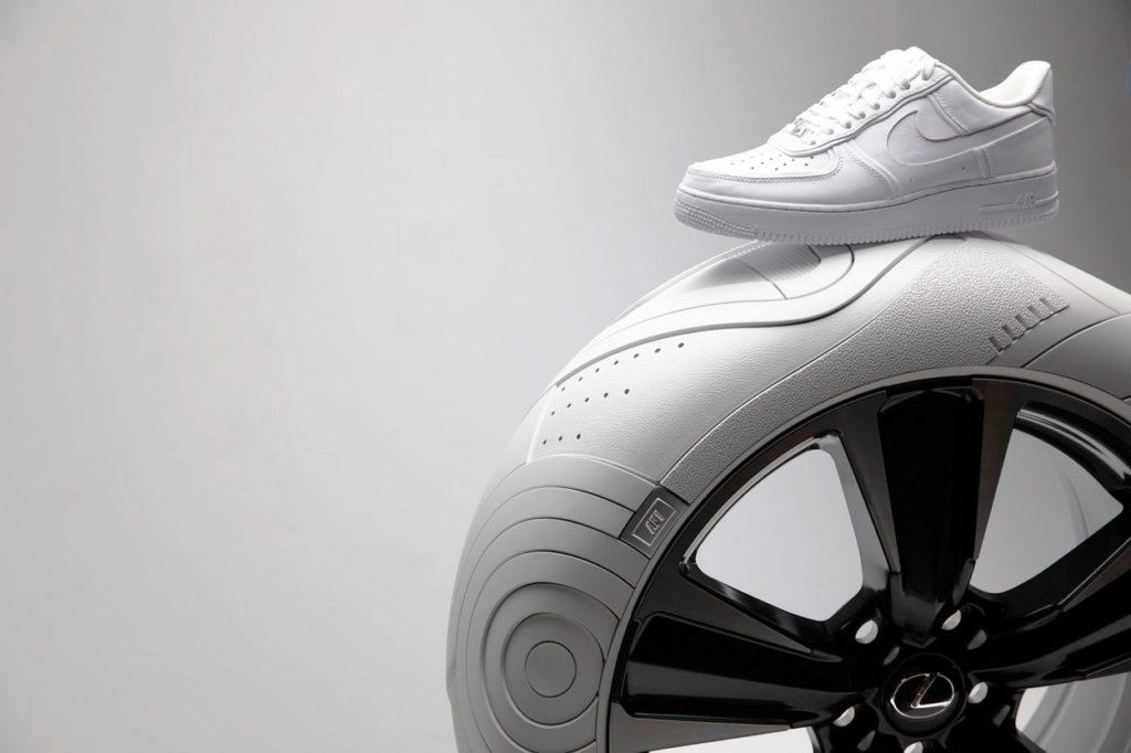 John Elliott crée des pneus Nike Air Force 1 pour la Lexus UX