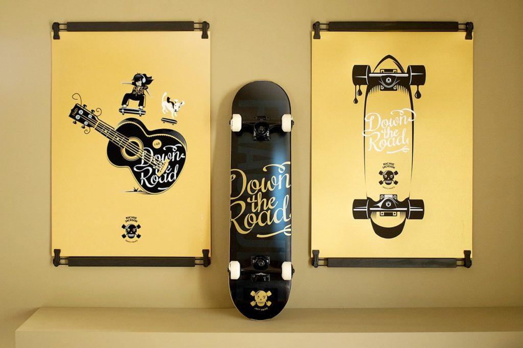 "Sérigraphies Dezzig x Richie Jackson ""Skate pirate"""