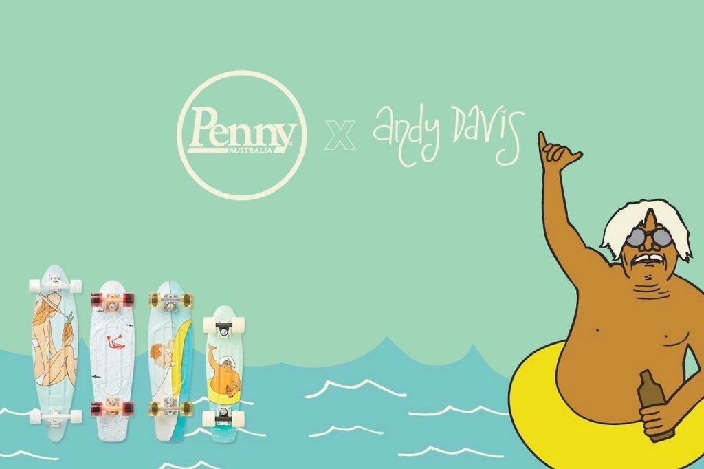Collection Penny Skateboards x Andy Davis