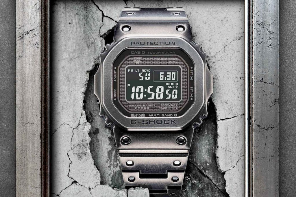 "Montre G-Shock GMW-B5000V-1 ""Full Metal"" Black Aged IP"