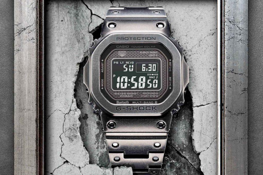 "Montre G-Shock GMW-B5000V-1 ""Full Metal"" Black Aged IP"
