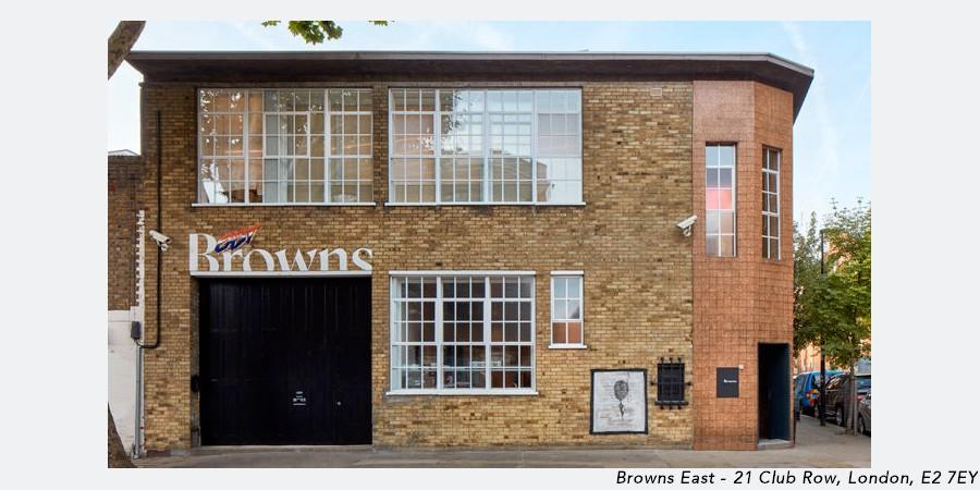 Browns East shop