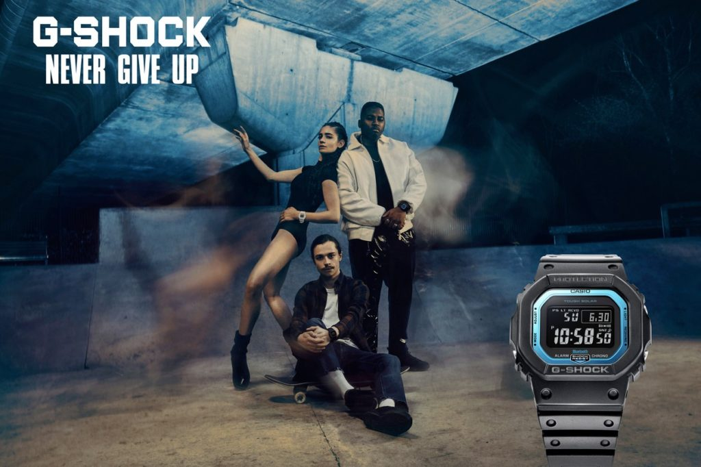 "Campagne G-Shock ""Never Give Up"""