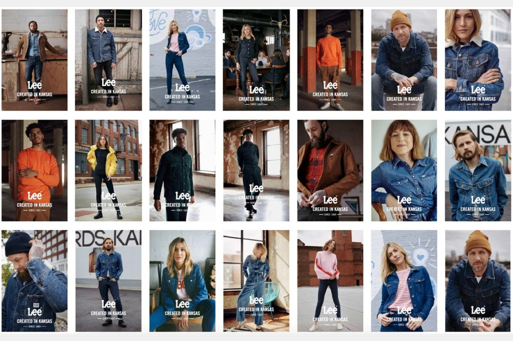 "Campagne Lee Jeans ""Created In Kansas City"" Automne/Hiver 2019"