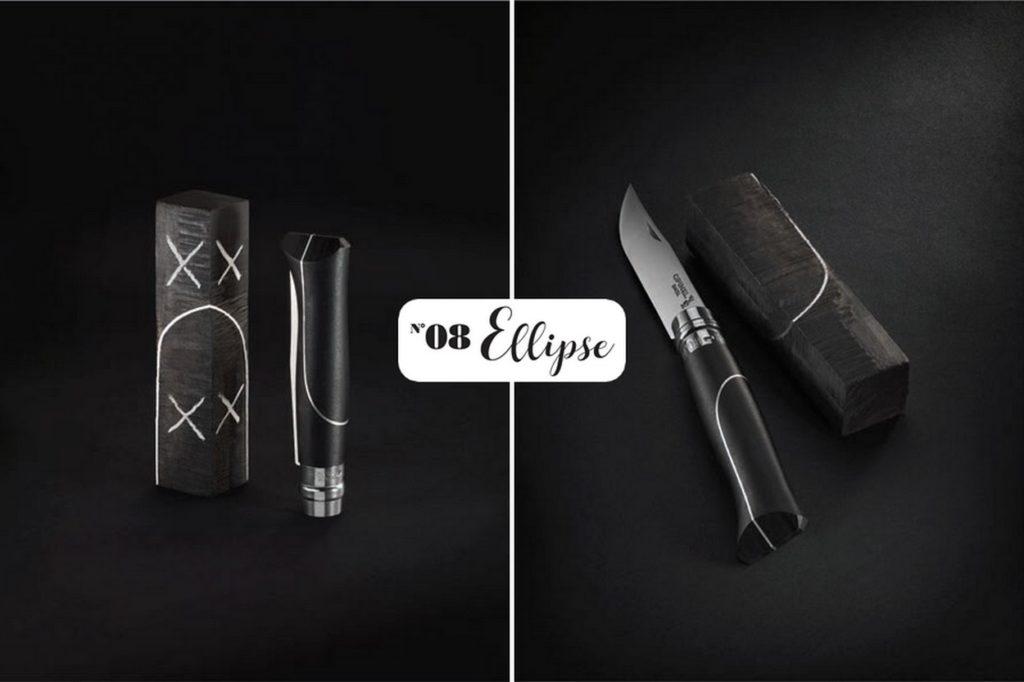 """Couteau Opinel N°08 Ellipse """"Ebene & Aluminium"""" en édition limitée"""