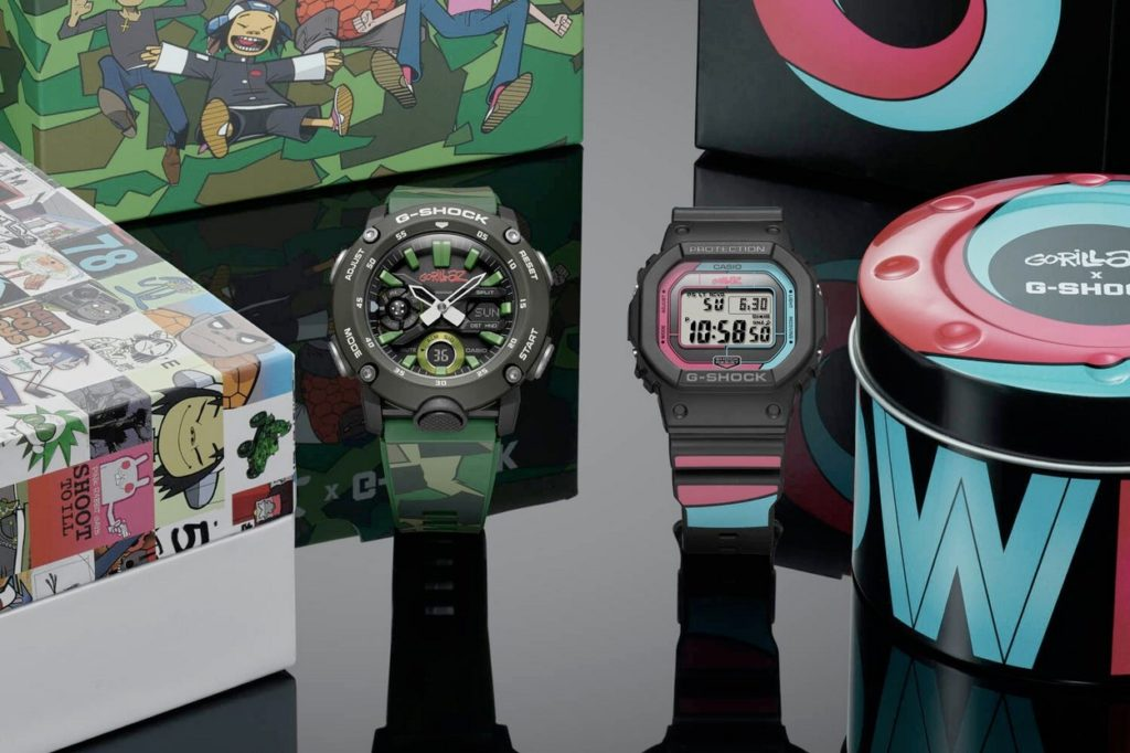 Seconde collaboration en édition limitée Gorillaz x G-Shock