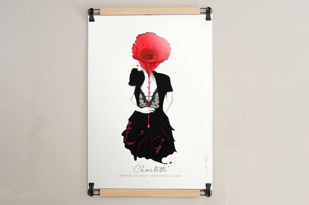 Sérigraphie Dezzig x Charlotte Gainsbourg