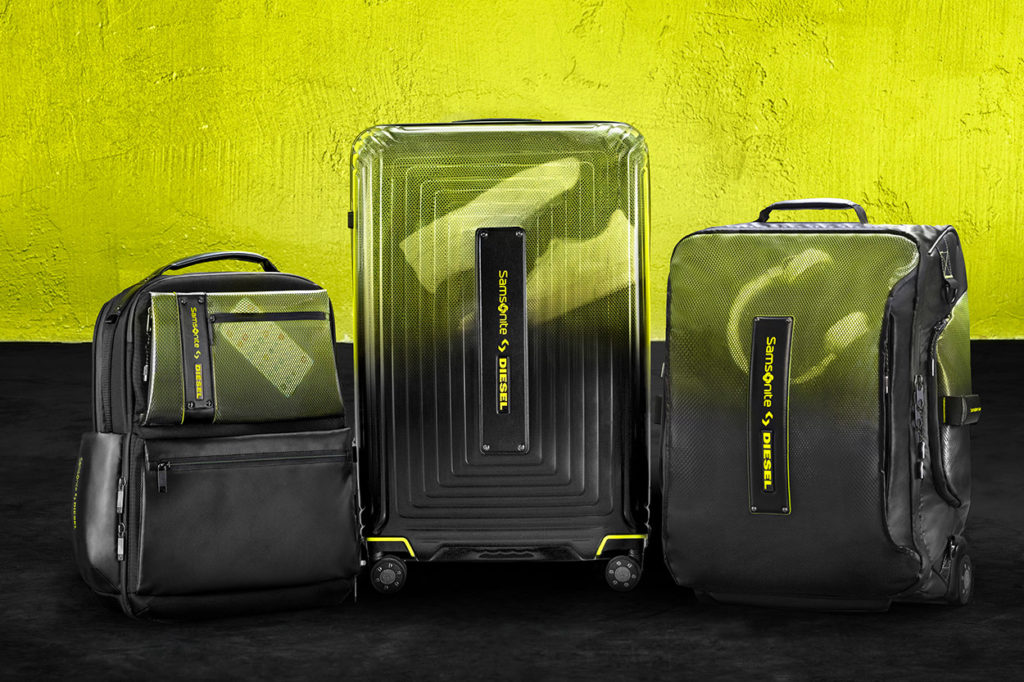 Collaboration exclusive Samsonite x Diesel