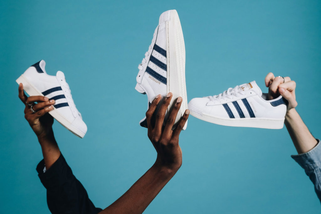 Courir x adidas Superstar Denim