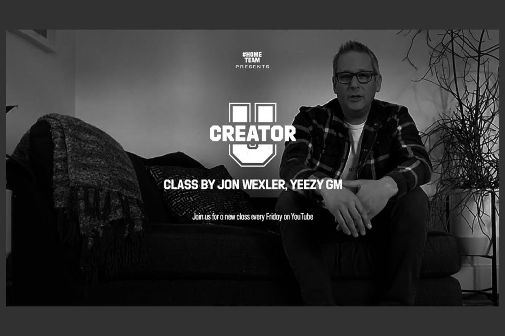 Première série adidas Creator U Class avec Jon Wexler, directeur général de YEEZY