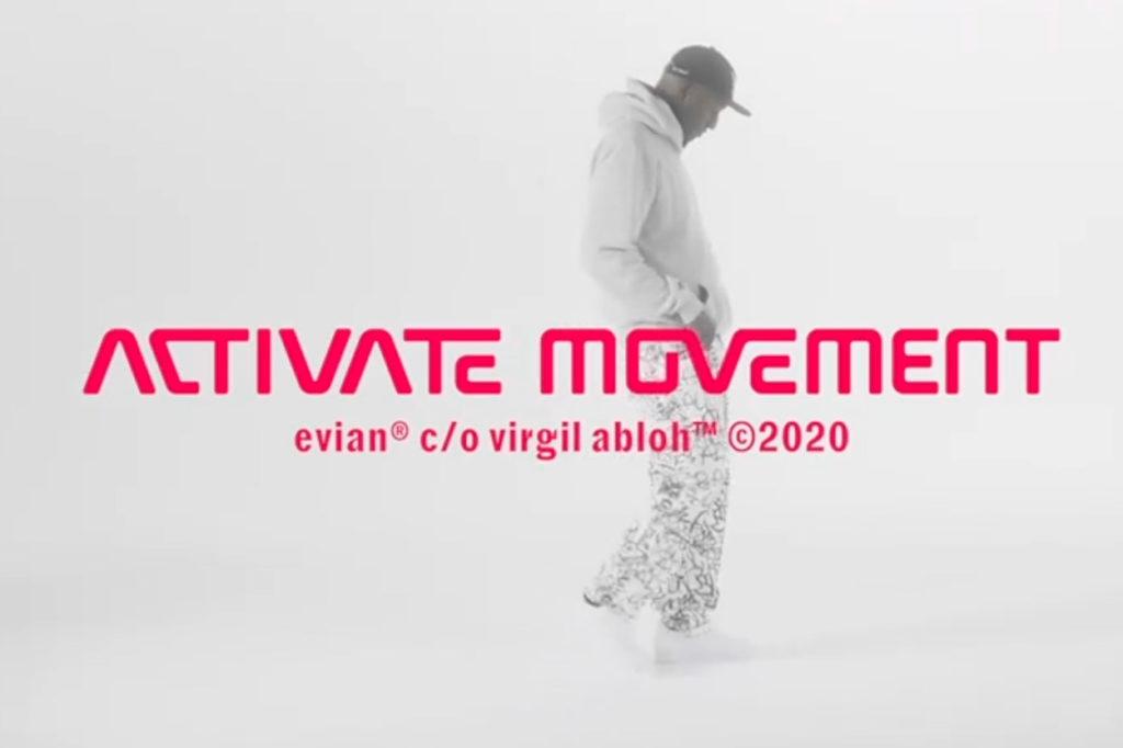 """Evian c/o Virgil Abloh prolongent le concours """"Activate Movement"""""""