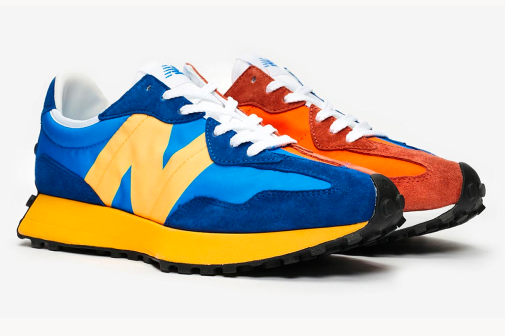 "New Balance 327 Blue/Orange ""Split"""