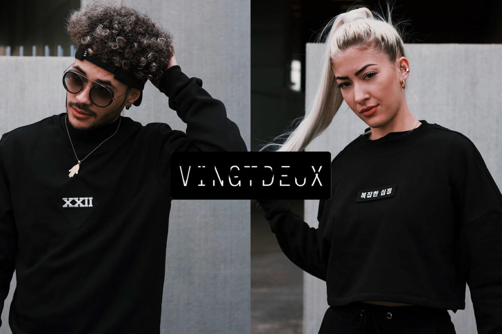 "VINGTDEUX, la mode ""all black"" aux patchs interchangeables"