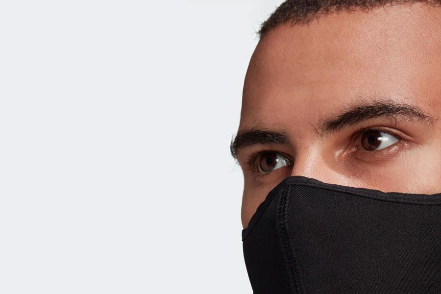 adidas lance un pack de masques noirs réutilisables