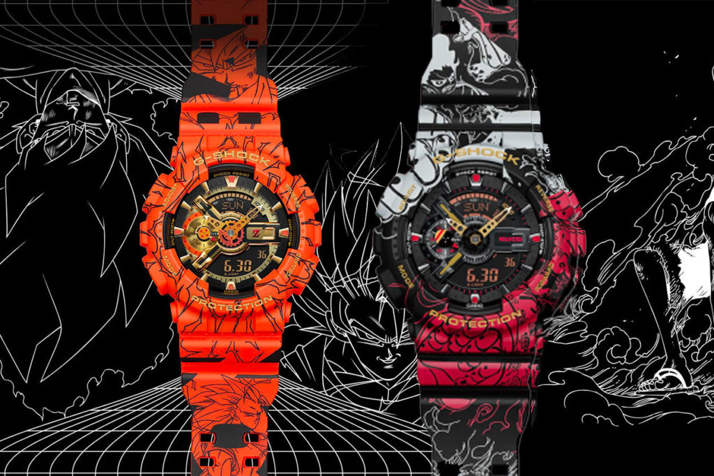 G-Shock dévoile les collaborations Dragon Ball Z et One Piece