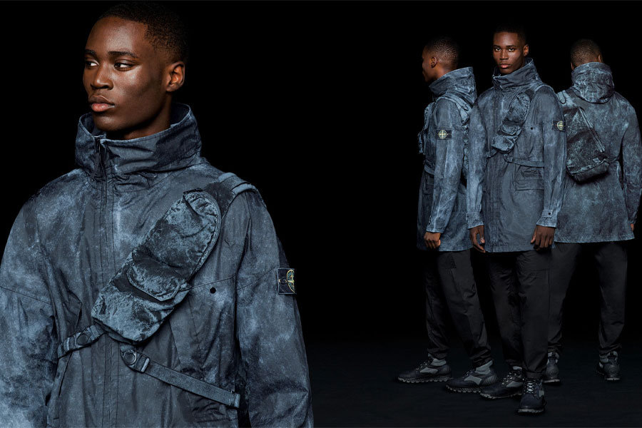 Collection Stone Island Membrana 3L avec Dust Colour Finish