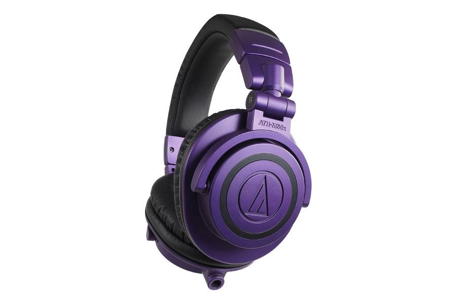 Audio-Technica présente en édition limitée les casques audio ATH-M50x et ATH-M50xBT en violet et noir